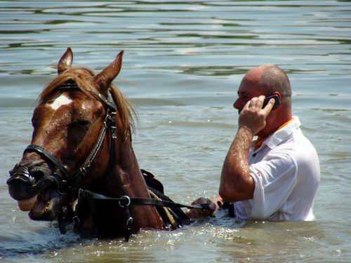 Even on horse and in water up to your waist, you can still hear with your relatives